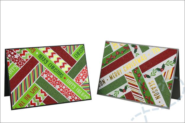 Kerstkaarten zelf maken inspiratie washi tape Action