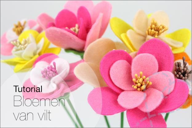 Tutorial bloemen van vilt boeket maken