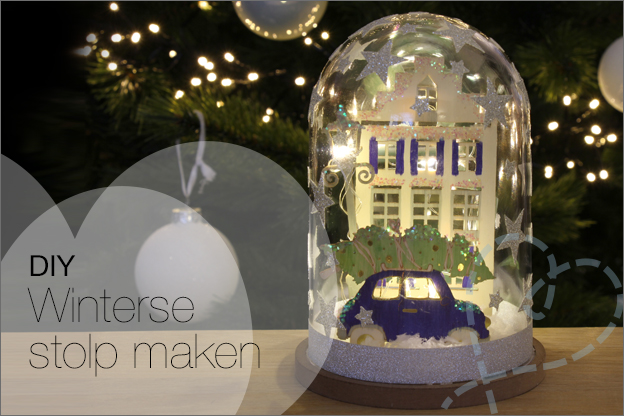 Action kerst stolp DIY decotime