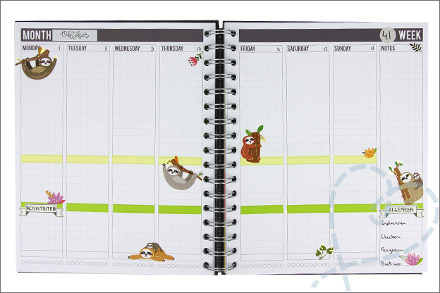Agenda zelf knutselen stickers basis