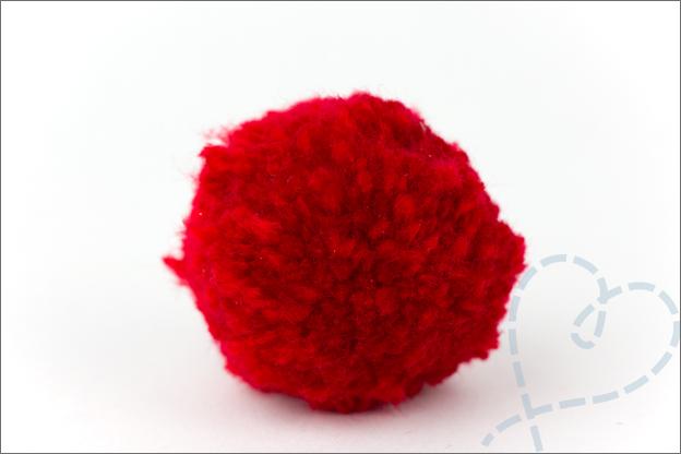 DIY Kerst Rudlof rode neus pompon uitleg