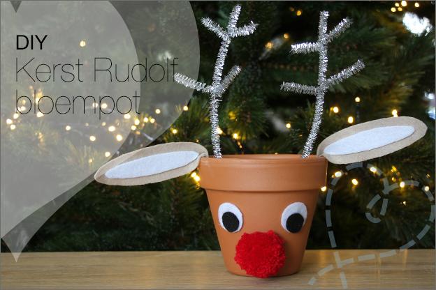 DIY Kerst rudolf bloempot