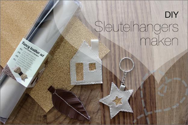 DIY Sleutelhanger imitatieleer