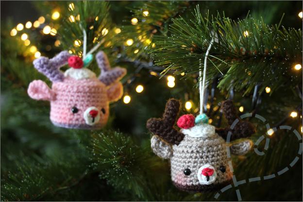 Haken kerstbal hert cupcake kerstboom