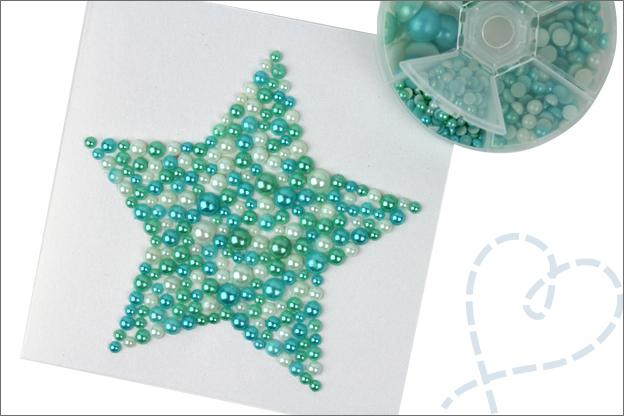 Kaarten maken ster schitterend parels