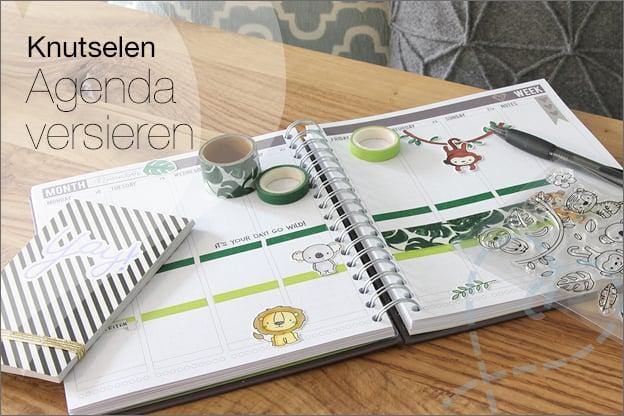 Knutselen Agenda versieren mascha planner inspiratie