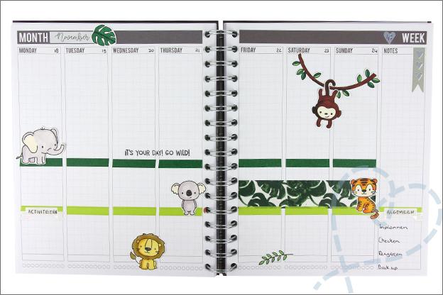 knutselen agenda versieren clear stamps twinmarkers