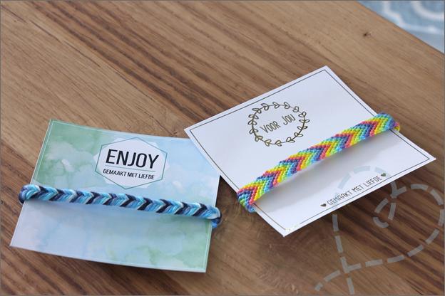 DIY Vriendschaparmbandjes cadeaukaartjes gratis printable