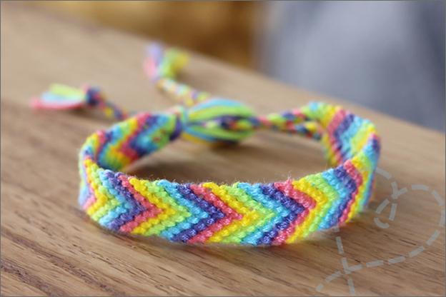 DIY Vriendschaparmbandjes knopen borduurgaren kleuren