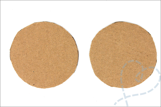 DIY pompons maken groot karton cirkels