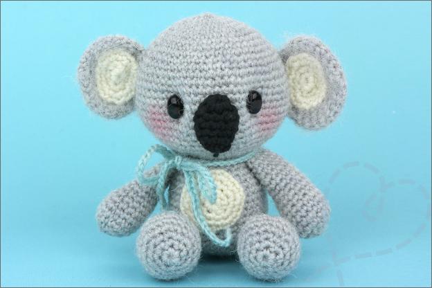 gehaakte koala MyKrissieDolls gratis haakpatroon
