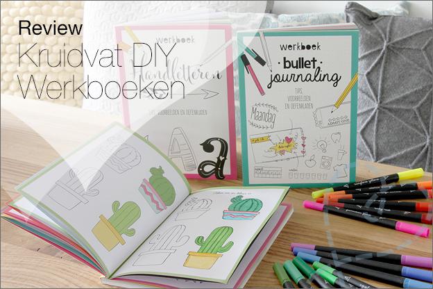 Kruidvat review Werkboeken handletteren Bullet Art journalingkopie