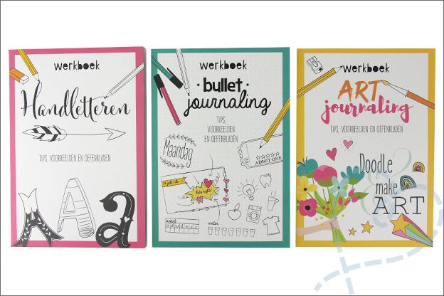Kruidvat review werkboeken handletteren bullet art journaling