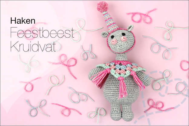 Haken Kruidvat washed denim feestbeest haakpatroon gratis