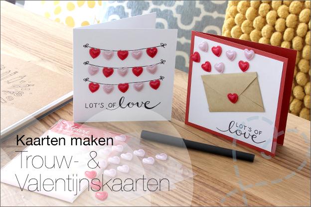 Kaarten maken trouwkaart zelfgemaakt inspiratie