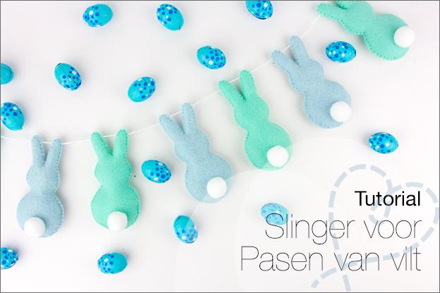 Tutorial Pasen vilt slinger konijntjes gratis patroon