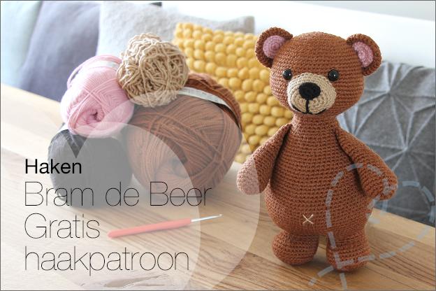 Haken bram de beer gratis haakpatoon zelfgemaakt