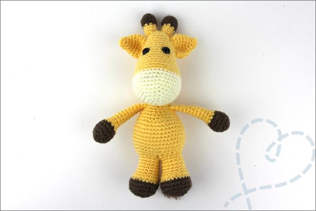 Haken giraffe in elkaar zetten stopnaald