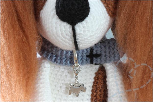 Haken hond spaniel halsband