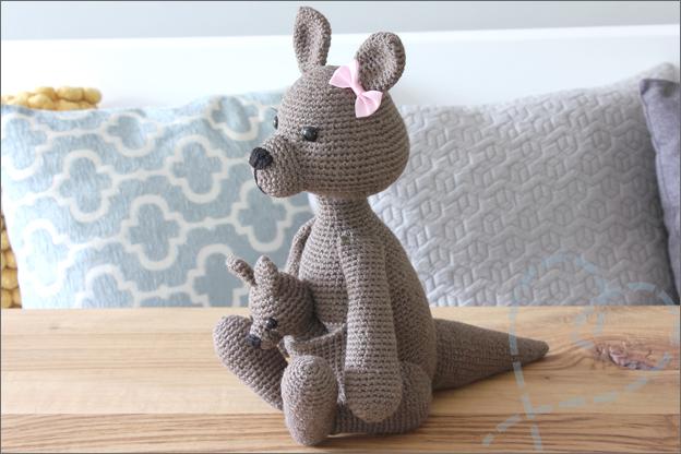 Haken kangoeroe baby patroon