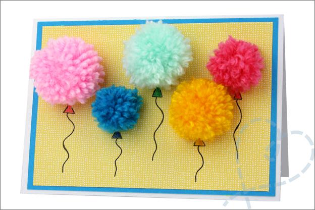 zelfgemaakte kaart uitleg verjaardag ballonnen