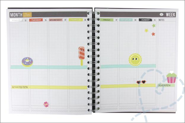 Agenda versieren stickers action Week 25