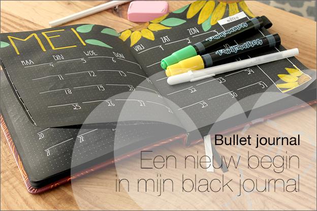 Bullet journal Zwart black inspiratie uitleg pagina