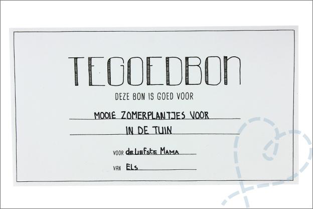 DIY Moederdag prinatble gratis tegoedbon tip