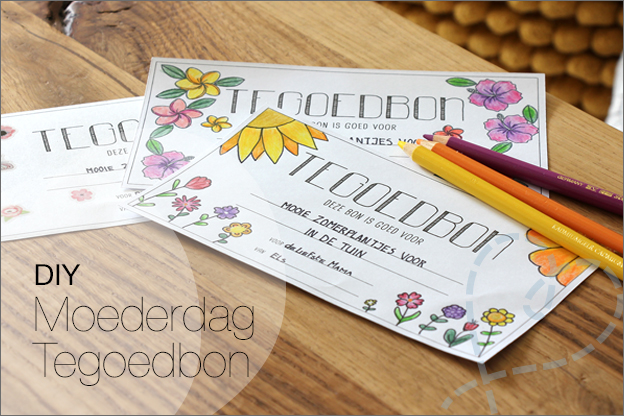 DIY Moederdag tegoedbon gratis printable