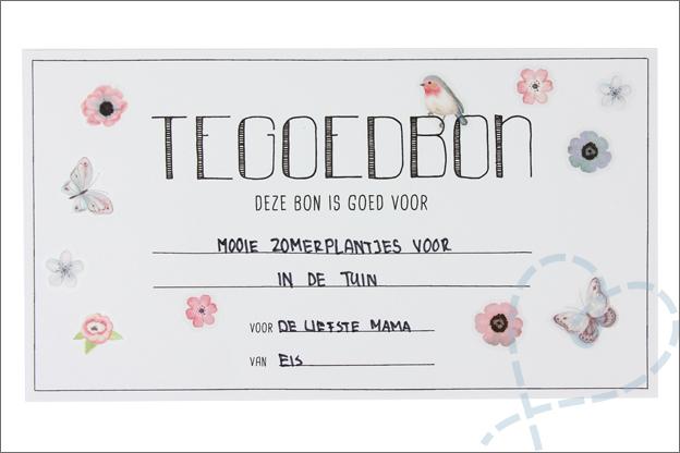 DIY Moederdag tegoedbon stickers versieren