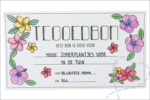 DIY Moederdag tegoedbon zelf maken clear stamps
