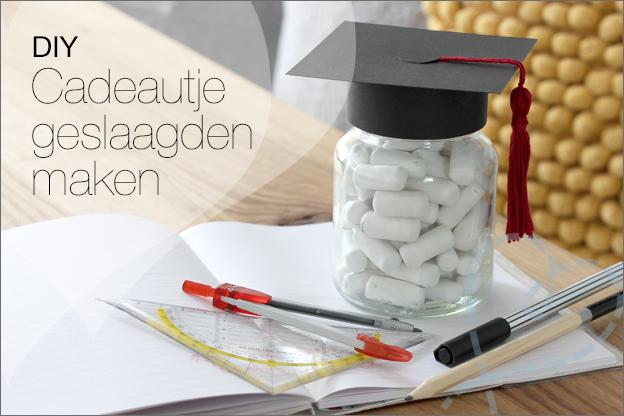 DIY geslaagd diploma cadeau inspiratie uitleg