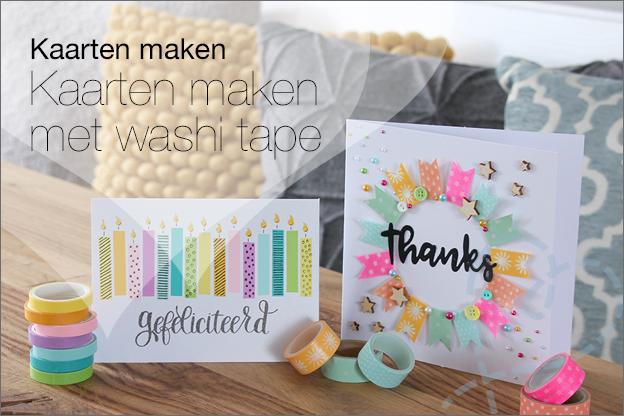 Kaarten maken uitleg beginners makkelijk washi tape