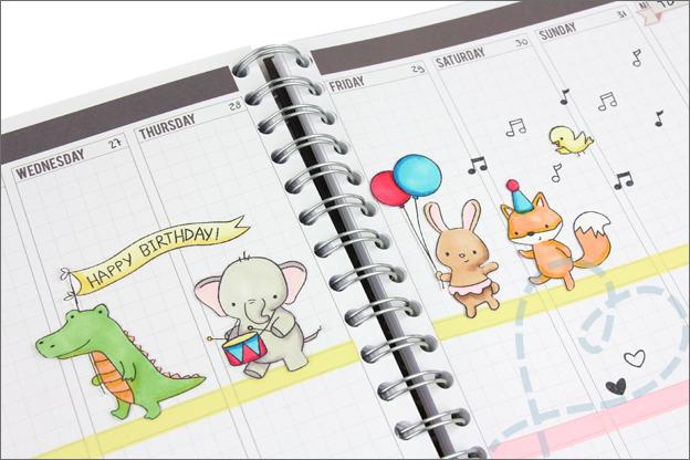 pagina planner versieren voor verjaardag