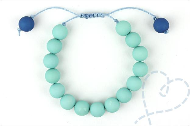 Armband verschuifbare knoop maken