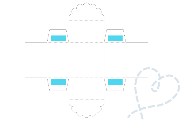 DIY cadeaudoosje vierkant in elkaar plakken