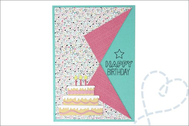 Verjaardagskaart maken vouwkaart
