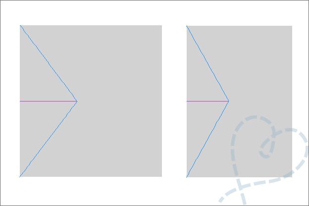 Vouwkaart stramien uitleg snijlijn vouwlijn