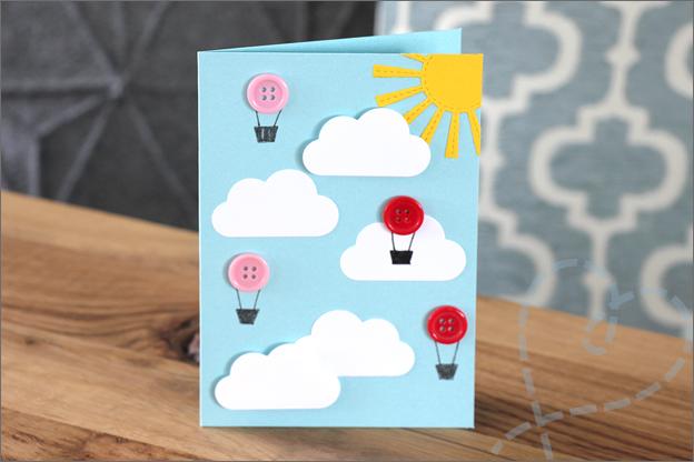kaarten maken luchtballonnen knopen