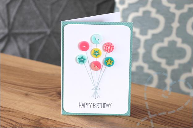 kaarten maken met knopen ballonnen borduurgaren
