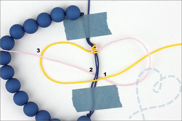 uitleg armband verschuifbare knoop
