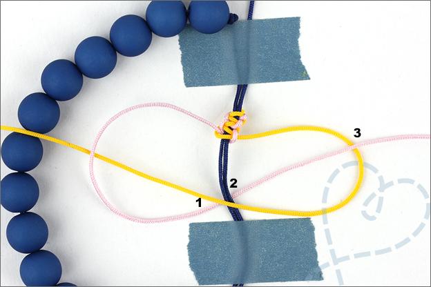 uitleg verschuifbare knoop maken
