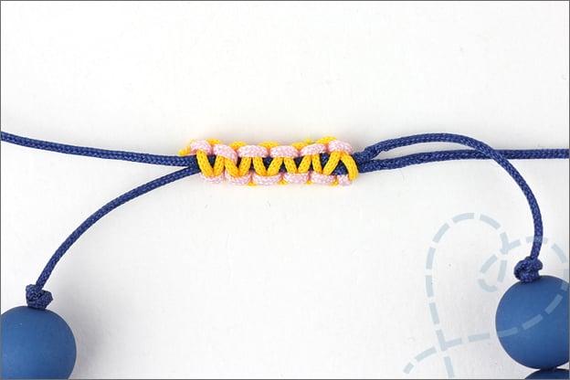 uitleg verschuifbare knoop sieraden maken