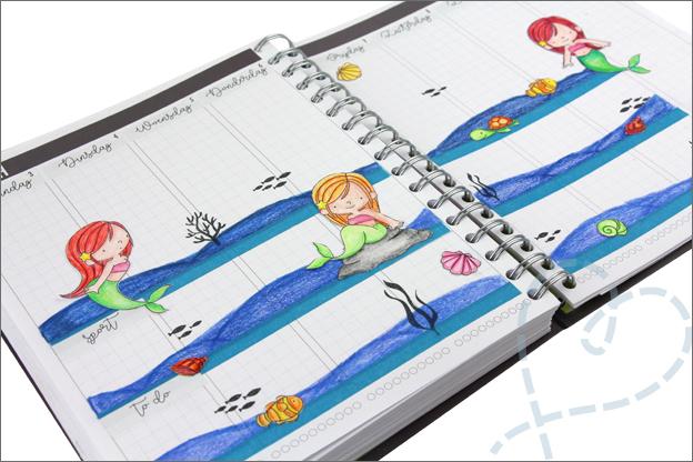 Agenda versieren kleurpotloden Faber Castell
