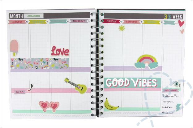 Agenda versieren stickerboekje action