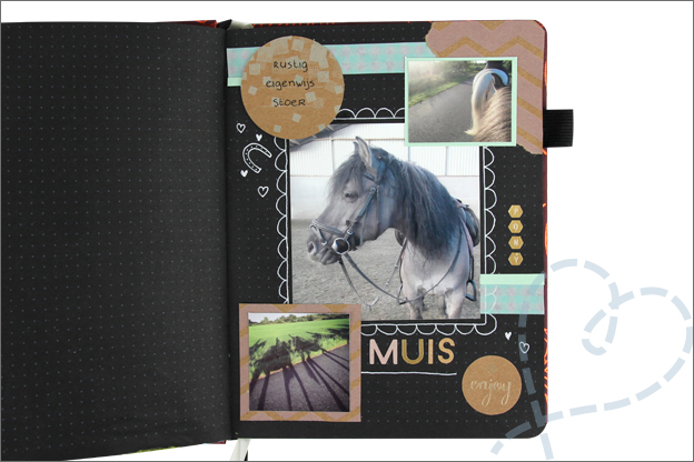 Black journal ideeen pagina paard