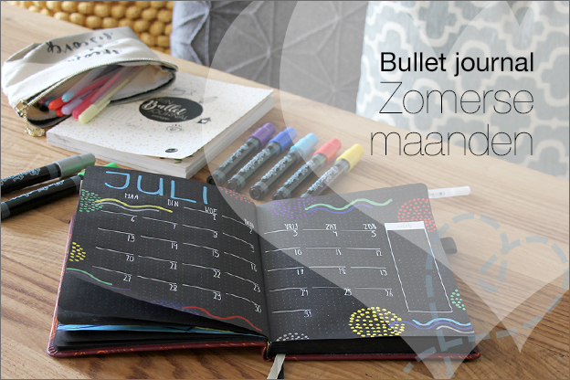Bullet journal black journal MUS zomer