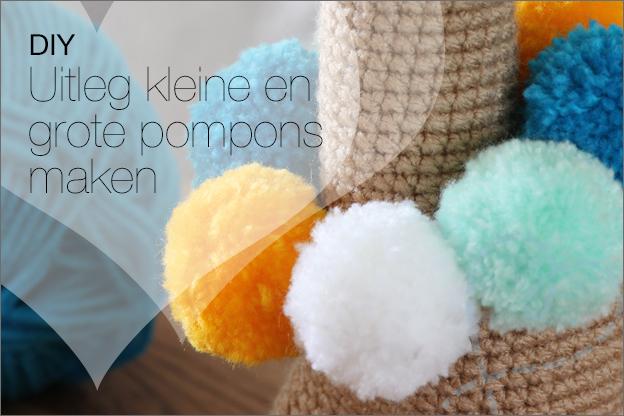 DIY uitleg pompons maken groot klein