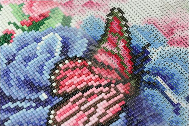 Action Diamond painting bloemen vlinders