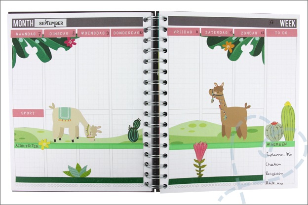 Agenda inspiratie thema alpaca action stickers